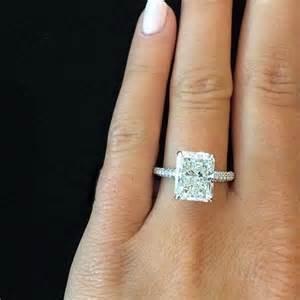 radiant cut engagement ring 2 00 ct radiant cut micro pave engagement ring certified engagement