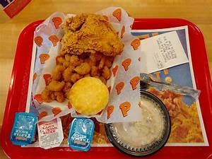 The Popcorn Shrimp & Chicken combo with Cole Slaw ...