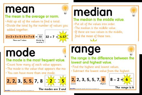 median mode and range foldable freebie in room 4b