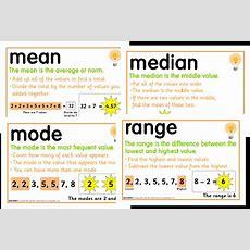 Mean, Median, Mode And Range Foldable Freebie  Fun In Room 4b
