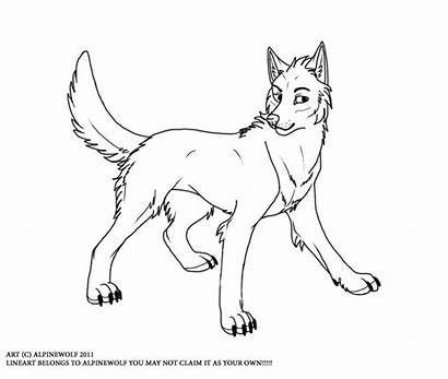 Wolf Lineart Deviantart Female Linearts Favourites Deviant