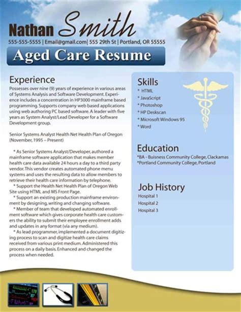 Aged Care Resume Template by Free Resume Templates In Word Free Resume Templates Modern Resumes