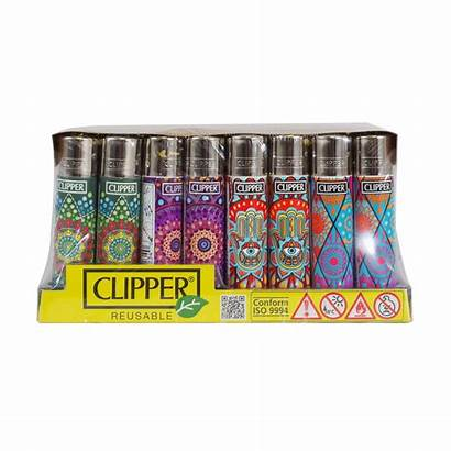 Clipper Lighters 48ct Lighter Mandala Rotational Display
