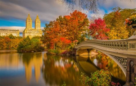 Fall Desktop Backgrounds New York by Wallpaper Autumn Bridge River New York Beautiful New
