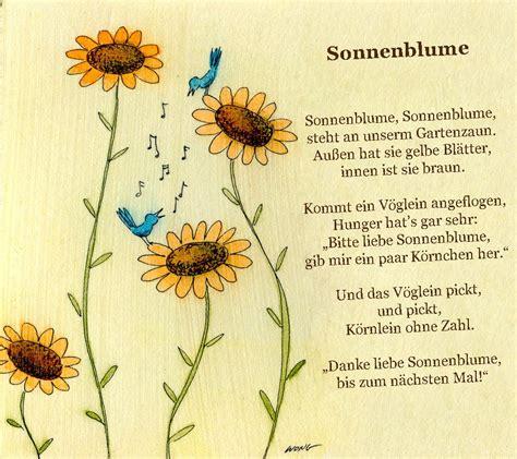 sonnenblumen gedicht kindergarten erzieherin kita kinder