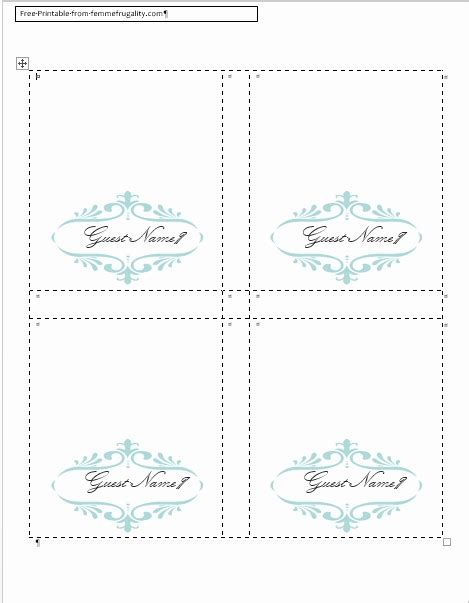 free templates for tent place cards how to make a table tent in publisher brokeasshome