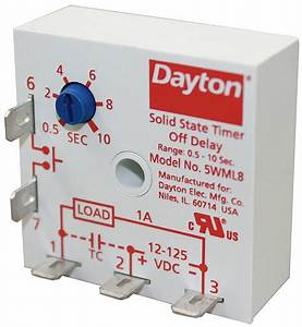 Dayton Single Function Encapsulated Timing Relay  12 To