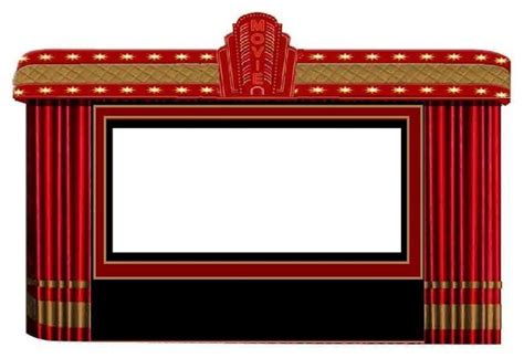 theater curtains marquee with projection screen modern