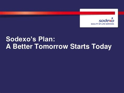 sodexo si鑒e social a better tomorrow starts today ahc