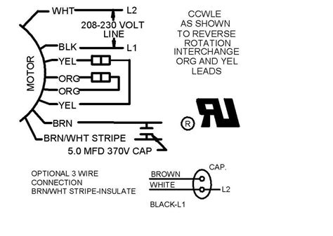 wire   wire condensing fan motor connection hvac