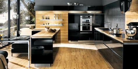 cuisine bois design la cuisine bois et noir c 39 est le chic sobre raffiné