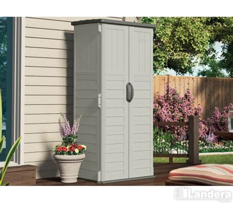 Suncast Patio Storage Shed Vertical by Suncast Vertical Shed 469 00 Landera Outdoor Storage