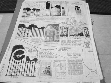 garden gateways vintage woodworking plan
