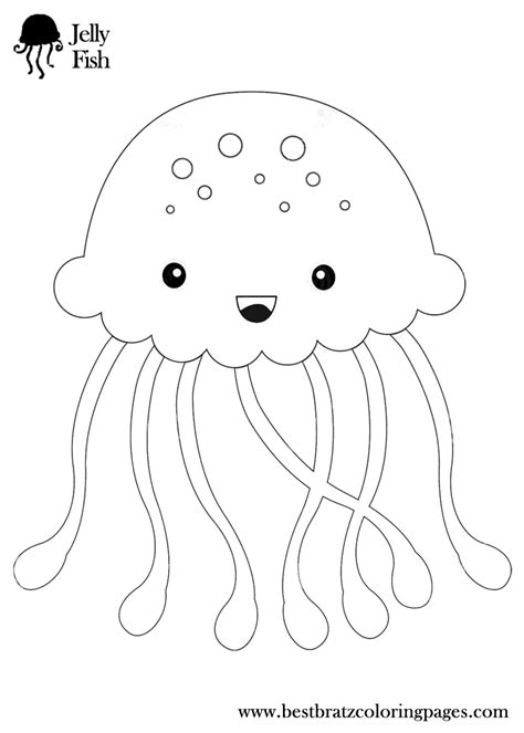 Coloring Jellyfish by Jellyfish Coloring Pages Getcoloringpages