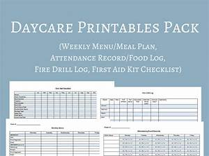 daycare menu templates 11 free printablepdf documents With blank daycare menu template