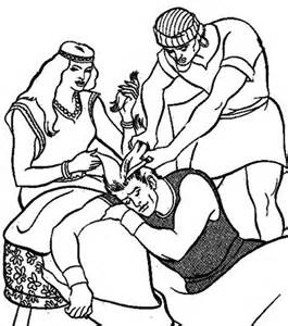 pin samson coloring page on pinterest - Samson Delilah Coloring Pages