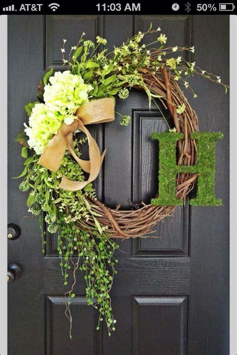 front door wreath dream home pinterest
