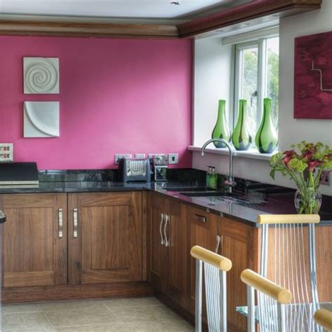 raspberry kitchen accessories the colours in this kitchen raspberry paint walnut 1722