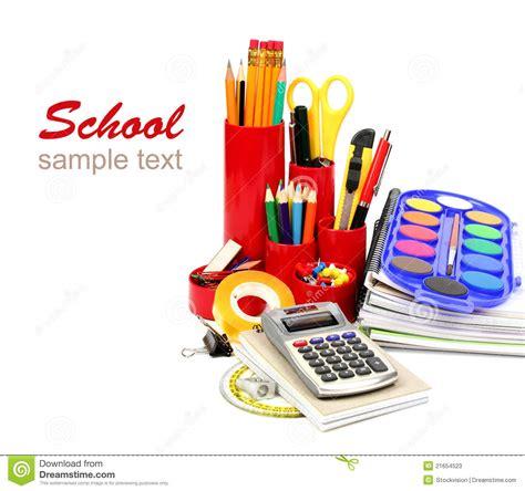 bureau fournitures fournitures de bureau d 39 école et photos stock image