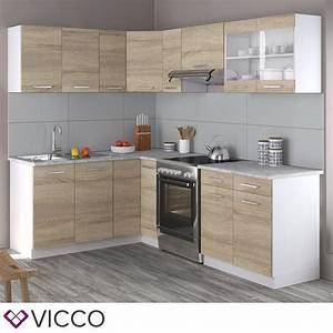 Küchenzeile L Form : vicco k chenzeile l 230cm k chenblock winkel eck real ~ Bigdaddyawards.com Haus und Dekorationen