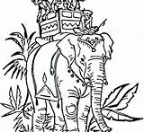 Mahal Taj Coloring Pages Printable Indian Elephant India Colouring Ancient Getcolorings sketch template