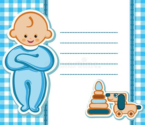 birthday card boy template card for baby boy stock vector image 54148138