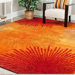 8 Orange Area Rugs For Your Living Room - Cute Furniture