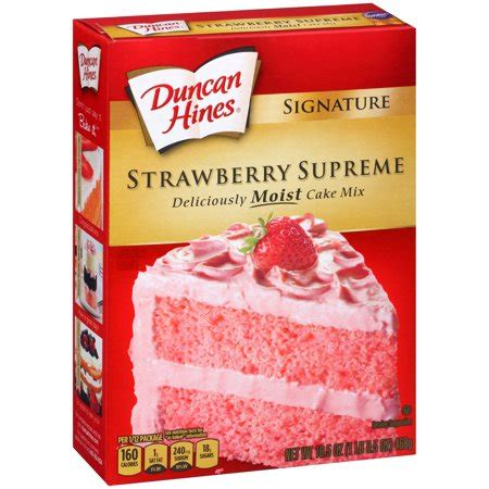 duncan hines moist deluxe strawberry supreme cake mix