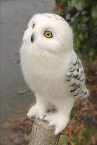 A needle felted, Snowy Owl by Yvonnesworkshop on DeviantArt