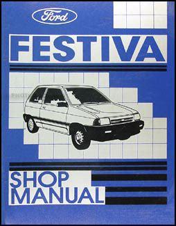 ford festiva shop manual original   lx repair