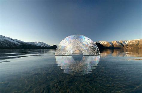 stunning land art reflections complete circles  life