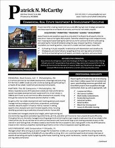Car Resume Examples Example Executive Real Estate Developer Resume Pg 1