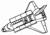 Shuttle Space Coloring Pages Getdrawings sketch template