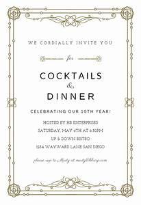 Classic Border - Free Professional Event Invitation ...