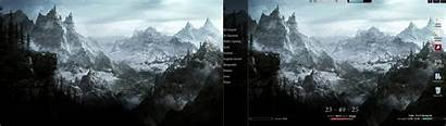 Dual Screen Skyrim Monitor Gaming Monitors Running