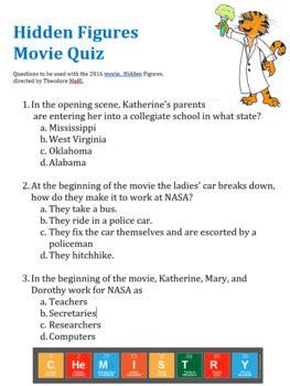 hidden figures  guide questions multiple choice
