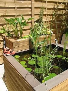un petit bassin de jardin ou terrasse des galets blancs With nice amenagement jardin avec bassin 8 artcane