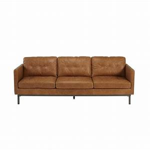 canape 3 places 2 relax electrique land ii cuir croute With canapé convertible cuir camel