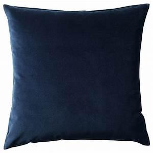 sanela cushion cover dark blue 50x50 cm ikea With blue throws and cushions