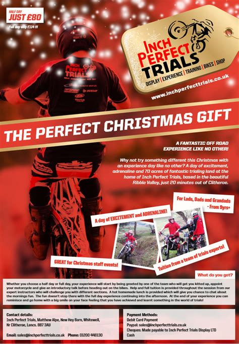 motorcycle trials experience christmas gift voucher beta