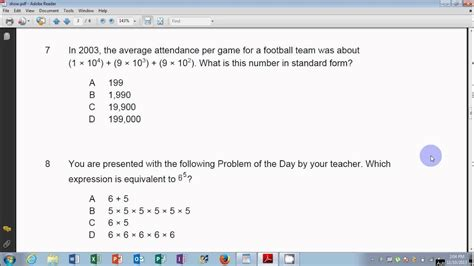 envision math grade 6 topic 1 test common core hd youtube