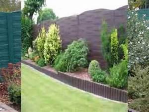 pose de cloture en beton par dl jardin youtube With cloture de jardin en beton