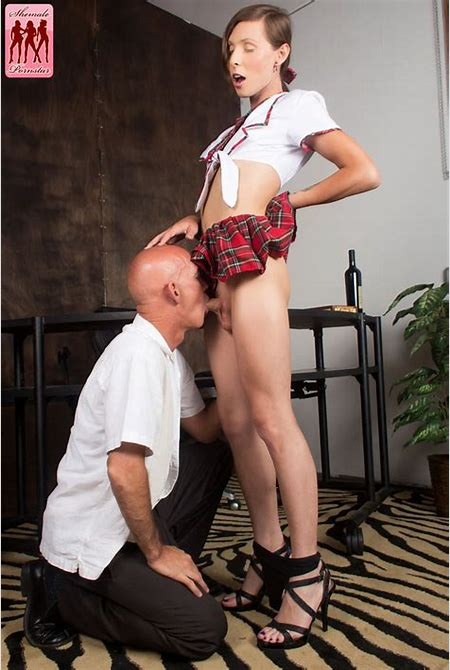 Shemale Schoolgirl Sienna Grace shows TIny Tits and gets ...