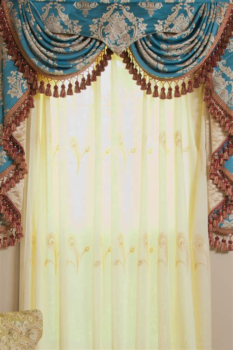 curtains and draperies blue lantern swag pelmet valances curtain drapes 50