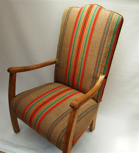 fireside chair recovered  vintage french