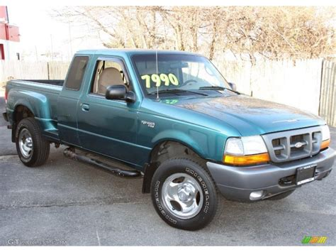 1998 pacific green metallic ford ranger xlt extended cab