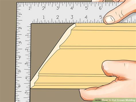 how to cut crown molding angles for kitchen cabinets 3 ways to cut crown molding wikihow 9891