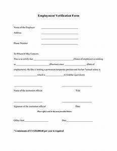 best photos of printable verification of employment letter With voe template
