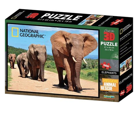 National Geographic 500 Piece 3d Lenticular Jigsaw Puzzle