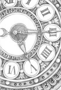 Pin by Lucie Waitová on clock | Clock drawings, Clock art, Clock painting